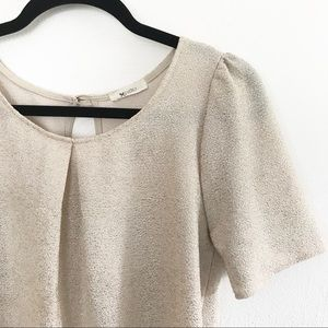 ** Everly *+ gold shimmer party dress